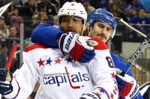 The Rangers put a literal and figurative chokehold on the bully Caps in the semi-finals.